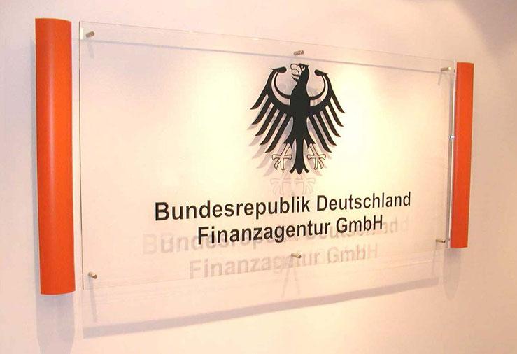 BRD GmbH Bundesrepublik Deutschland Finanzagentur GmbH Empfang Logo Bild