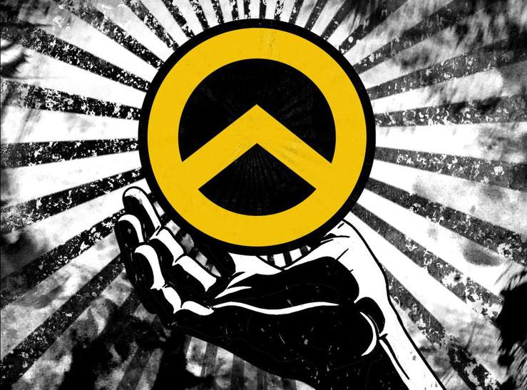 Identitäre Bewegung Kreis Hand Logo Bild