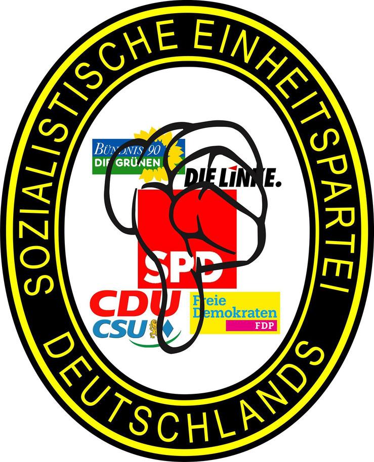 Sozialistische Einheitspartei Deutschlands Logo Bündnis 90 Die Grünen Die Linke SPD CDU CSU FDP