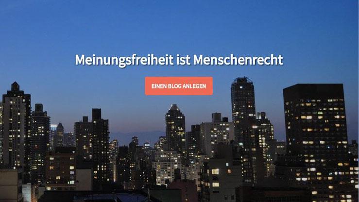 LOGR Meinungsfreiheit ist Menschenrecht kostenlosen Blog anlegen