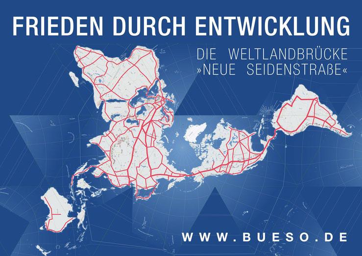 BüSo Frieden durch Entwicklung Weltlandbrücke neue Seidenstraße Grafik