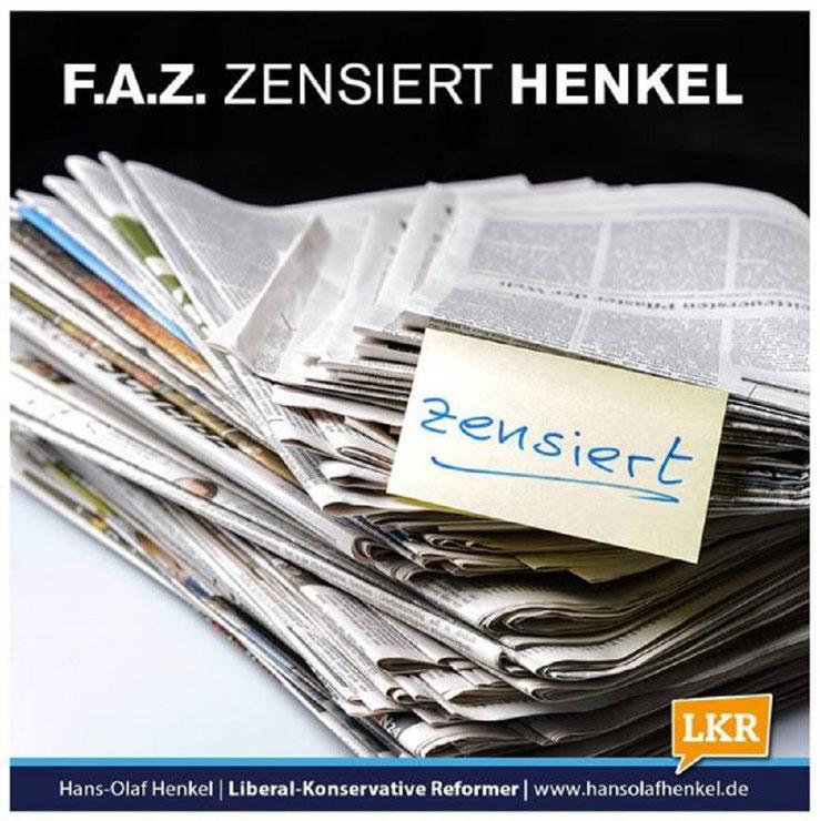FAZ zensiert Hans-Olaf Henkel LKR LKR