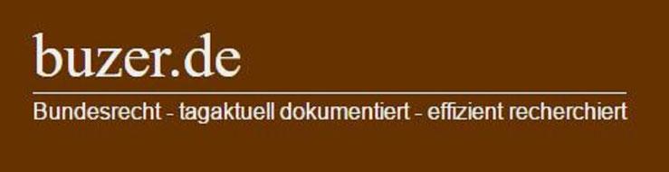 buzer Bundesrecht Gesetze Recherchen Synopsen Änderungen Logo