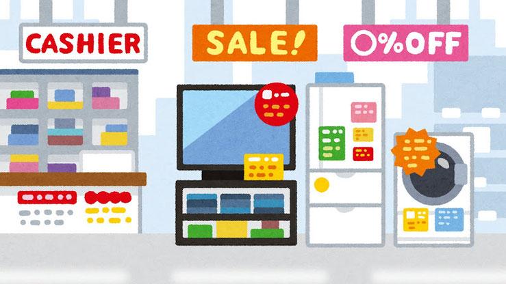 家電売り場で売られている家電も、意匠登録の戦略の末に店頭に並んでいます。