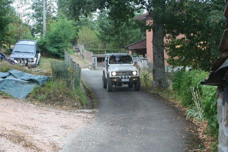 L'arrivo della Jeep Suzuki.