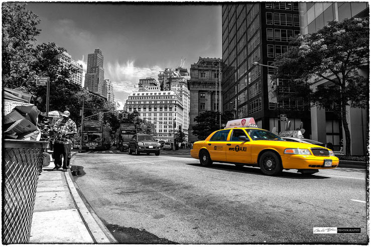 New York taxi jaune Stree Photo