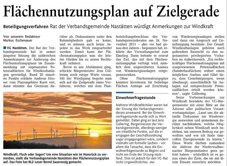 Rhein-Lahn-Zeitung vom 27.11.2014