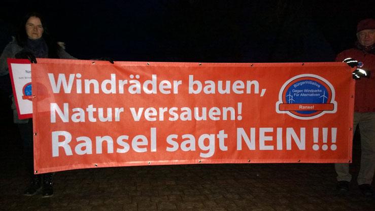 Mahnwache in Welterod am 04.03.2015