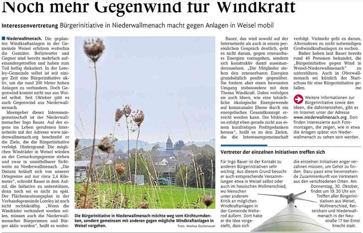 Rhein-Lahn-Zeitung vom 29.10.2014