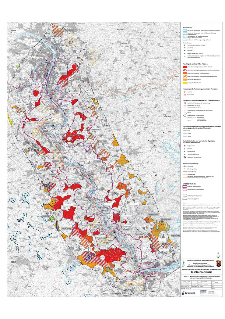 Sichtachsenstudie - Konfliktpotenzialzonen