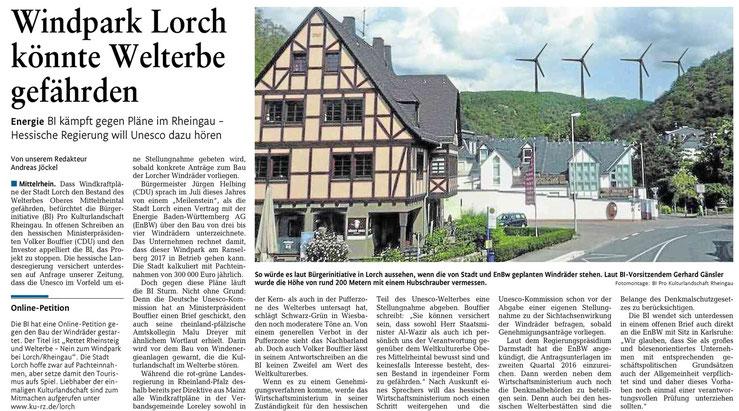 Rhein-Lahn-Zeitung v. 30.10.2015