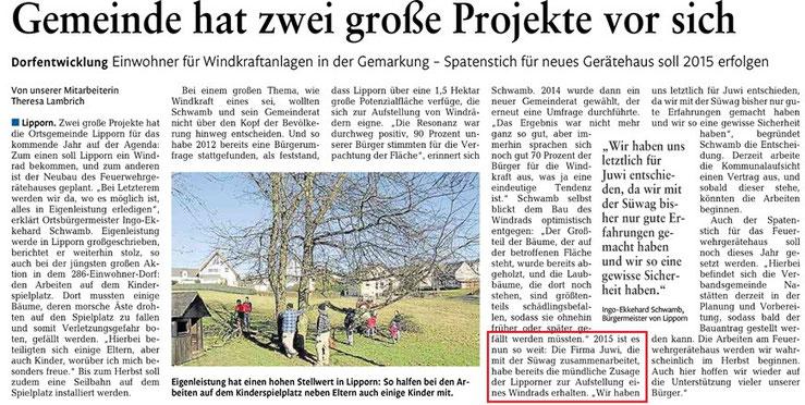 Rhein-Lahn-Zeitung v. 17.04.2015