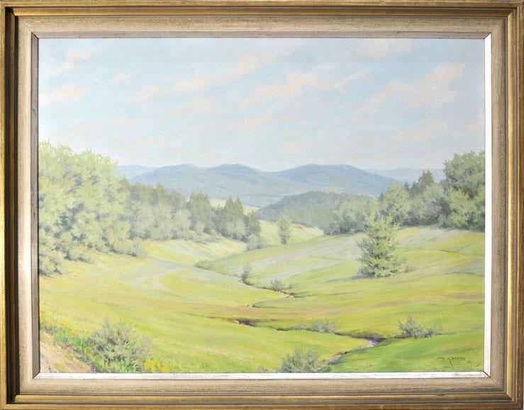 Otto Küppers Eifelmamler Landschaft Öl auf Textil signiert