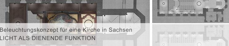 Teaser Projekte / mit Klick zur Projektbeschreibung >Beleuchtungskonzept für eine Kirche in Sachsen<