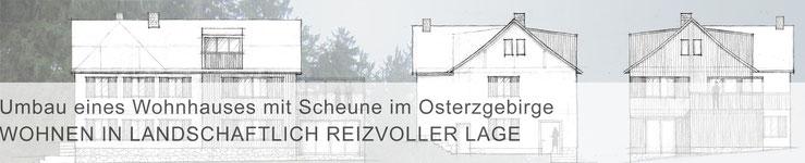 Teaser Projekte / mit Klick zur Projektbeschreibung >Umbau eines Wohnhauses mit Scheune im Osterzgebirge<