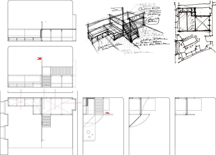 Zeichnung / Entwurfsskizzen