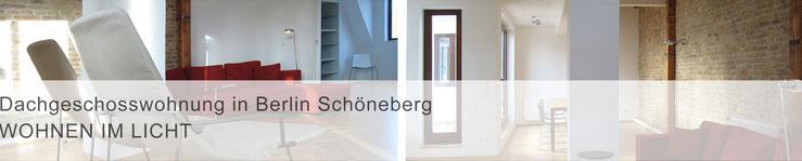 Teaser Projekte / mit Klick zur Projektbeschreibung >Dachfeschosswohnung in Berlin Schöneberg<