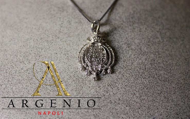 Stemma regno due Sicilie in argento stampa 3d by Argenio Napoli