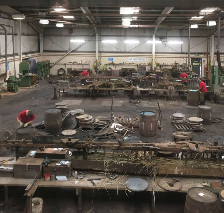 The coopers' workplace at Speyside Cooperage