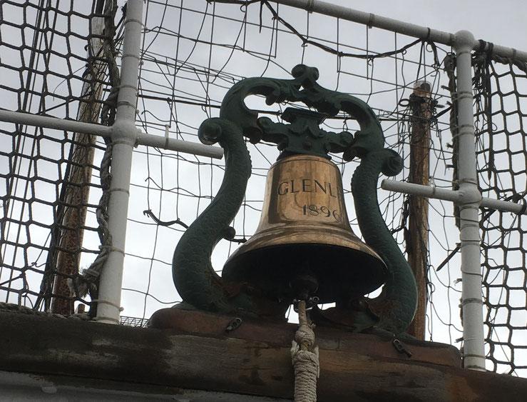The bell of the tallship Glenlee in Glasgow