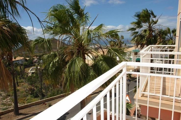 Blick von den Balkonen des Hauses