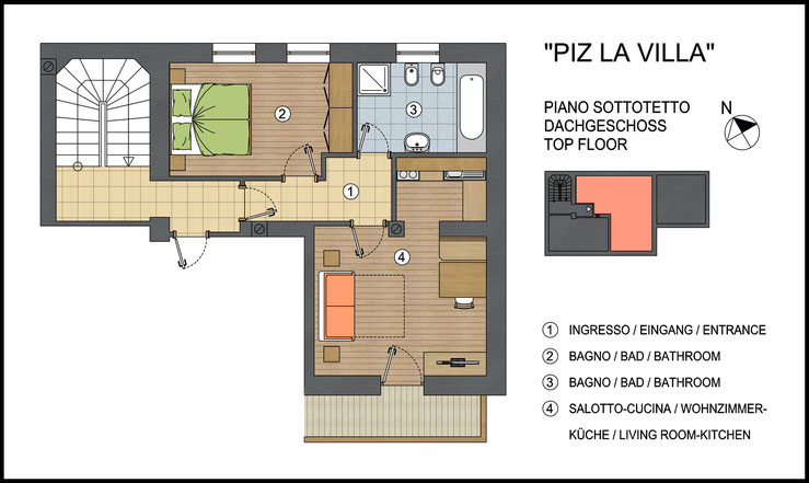 Appartamento Piz La Villa