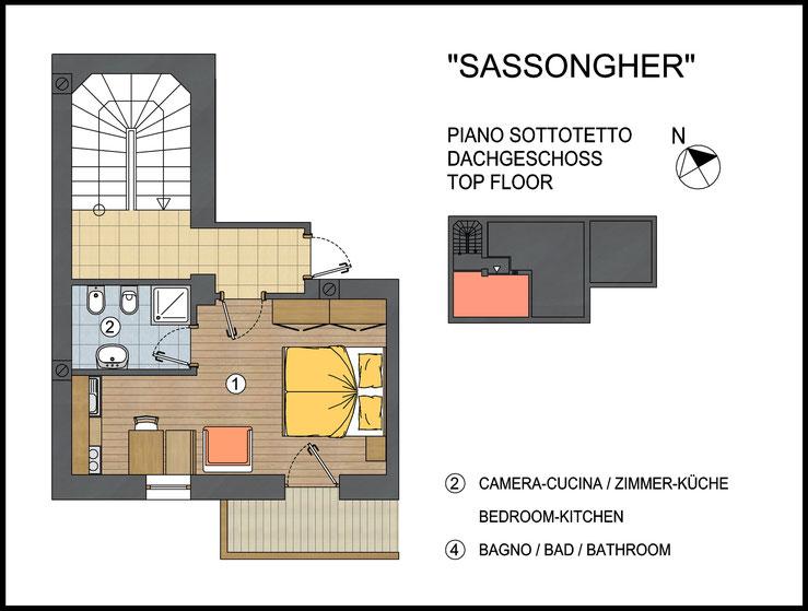 Wohnung Sassongher