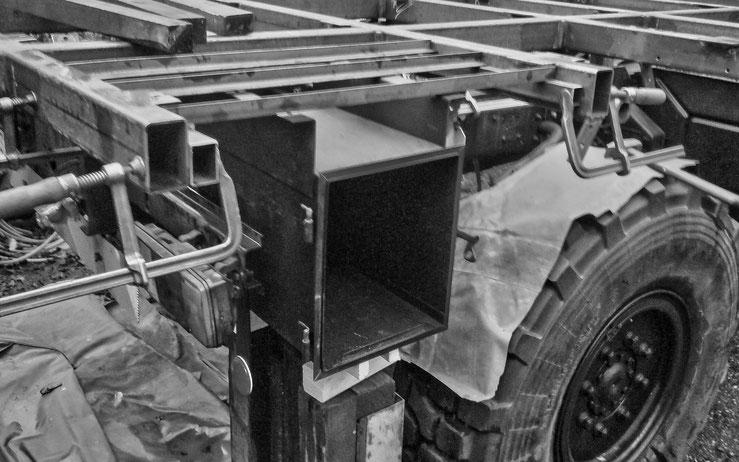 Wiederverwendung original Heckstaukastens Steyr 12M18