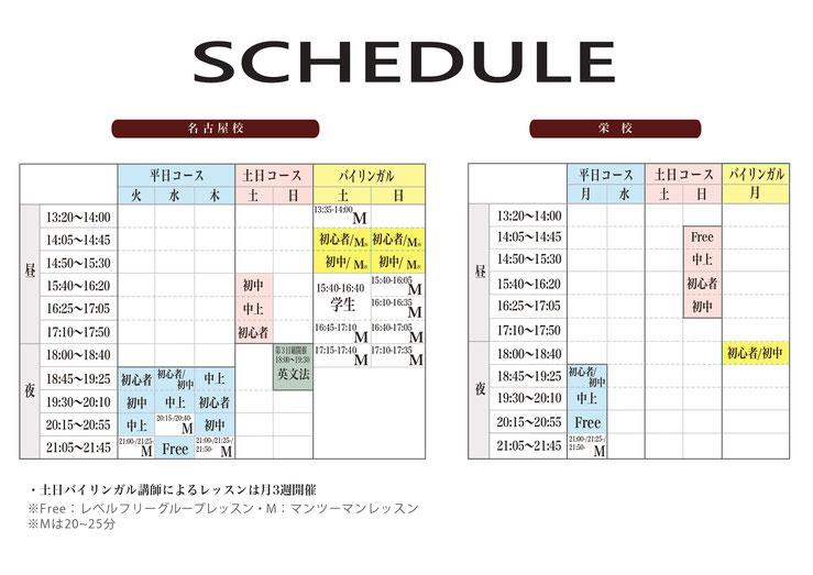 名古屋 栄の英会話スクール 週末 平日 昼夜 様々なコースから選べます。