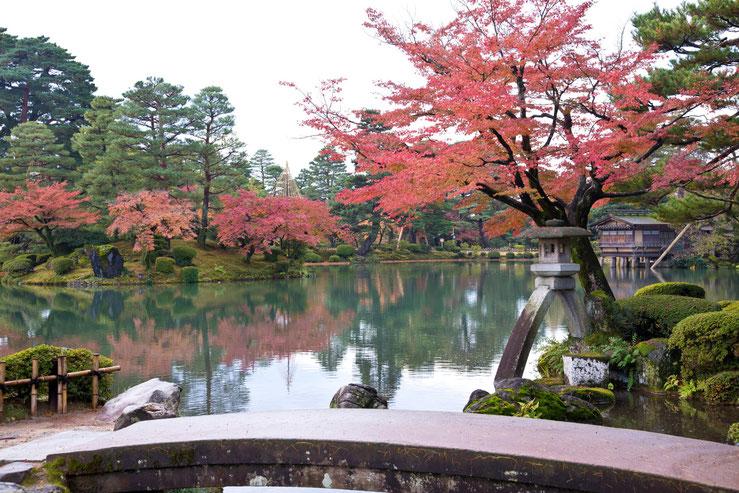 ↑兼六園の素晴らしい日本庭園