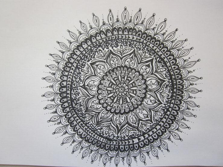 Mandala - schwarz weiß