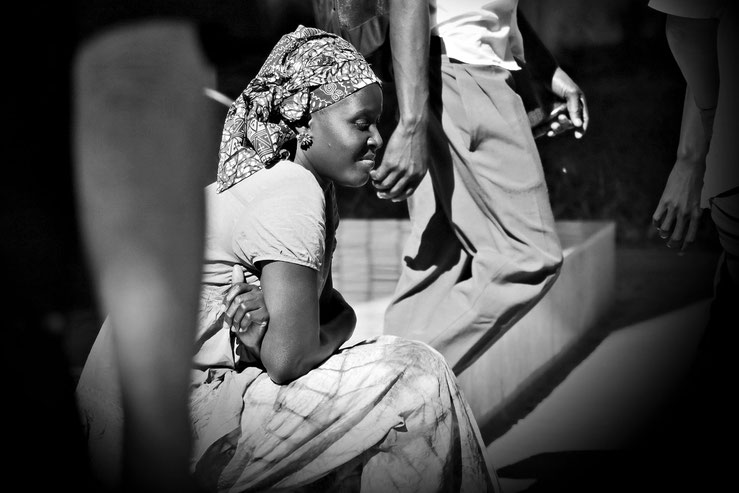Innehalten im Trubel Banjuls Gambia