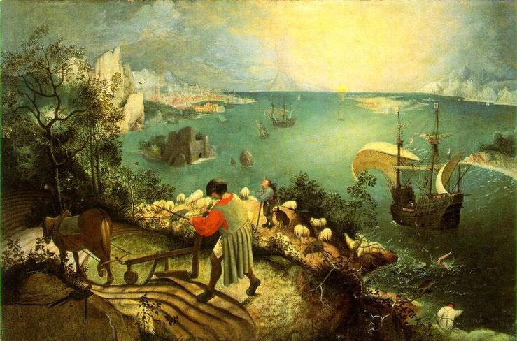 Pieter Brueghel, Der Sturz des Ikarus