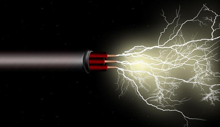 Stromkabel bildlich dargestellt, Ohne Strom läuft nichts!