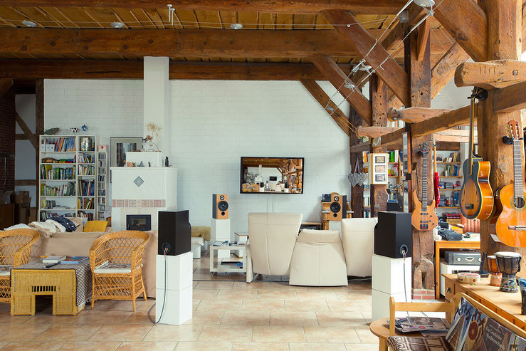 Die Musikecke im Wohnzimmer