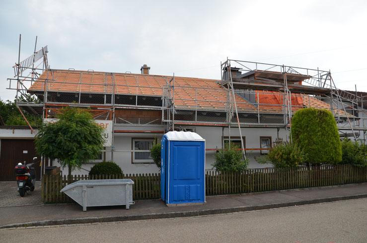 BV: Kempten Umbau Dachgeschoß mit 3 geschleppten Gauben