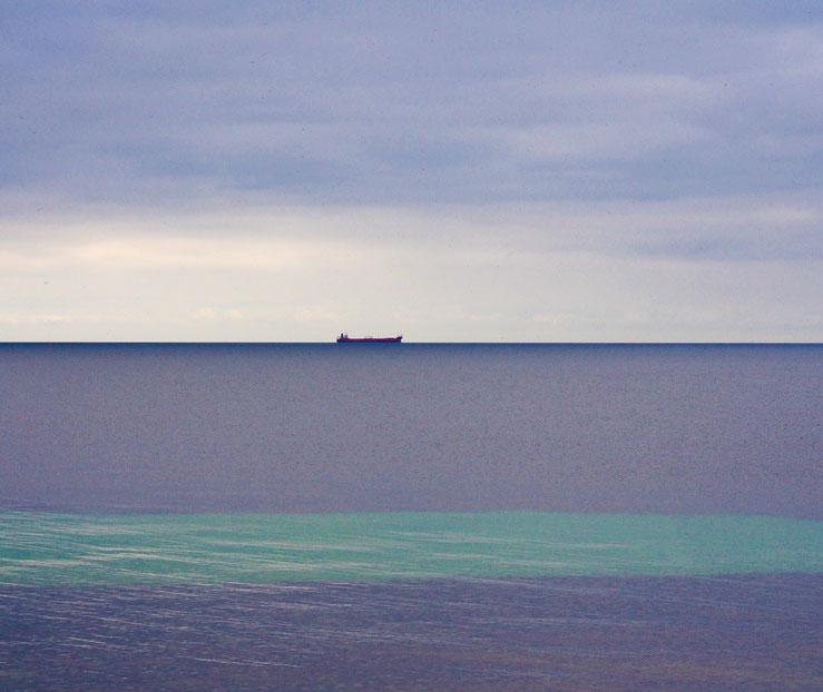 Blick vom Strand auf das Kattegat