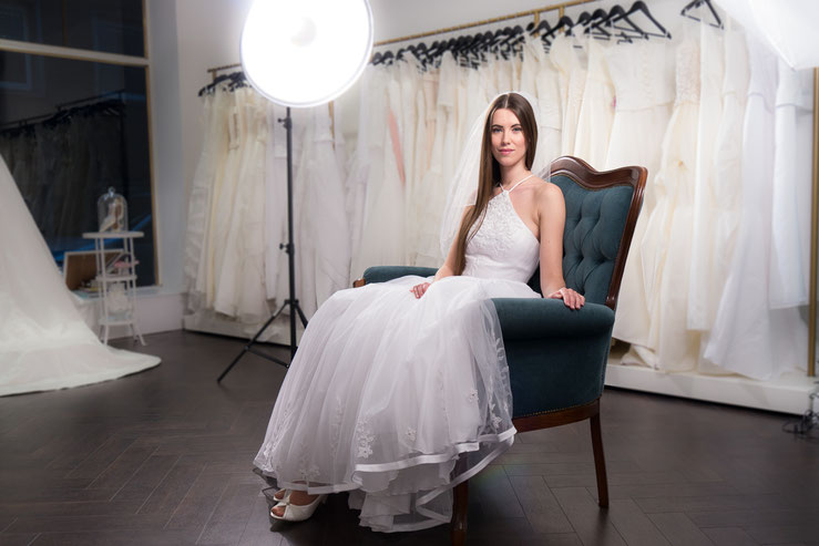 Audrey Brautmode Fotoshooting
