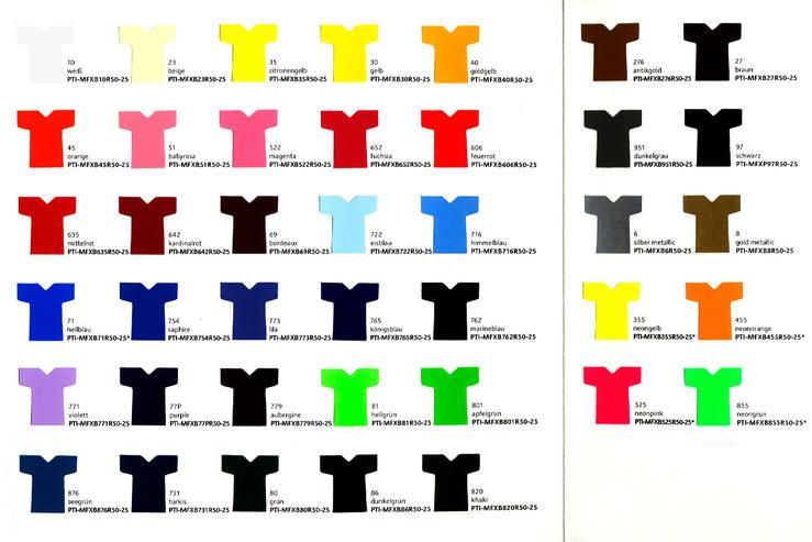 Farbauswahl MasterFlex