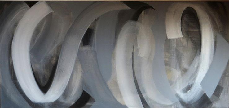 loops 8, Acryl auf Leinwand, 75x150cm