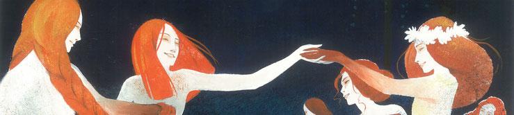 rusalka-Lesní Žínky-clémence meynet illustration