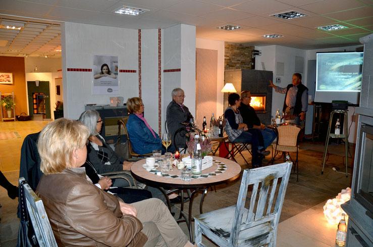 Vortrag zum Thema Tulikivi Specksteinöfen im Hause Carl Maaß.
