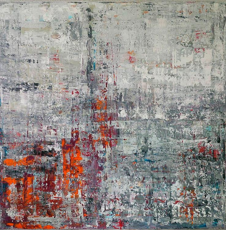 Decouverte, 90 x 90 cm, Acryl auf Leinwand