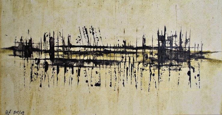 Komposition 2012 Acryl auf Karton 15x30cm