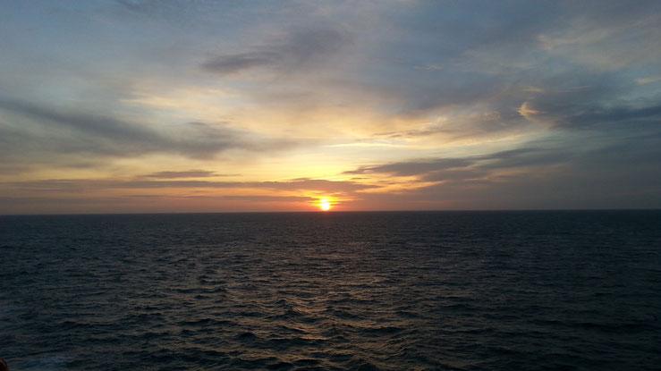 Sonnenaufgang über dem Ärmelkanal