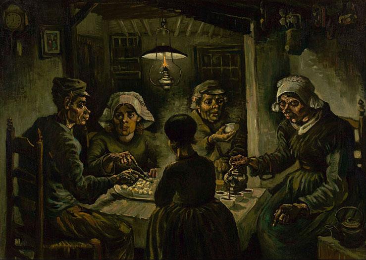 """Vincent van Gogh, """" I mangiatori di patate"""" (1885)"""