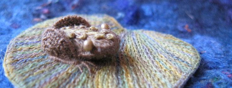 Frosch Stumpwork