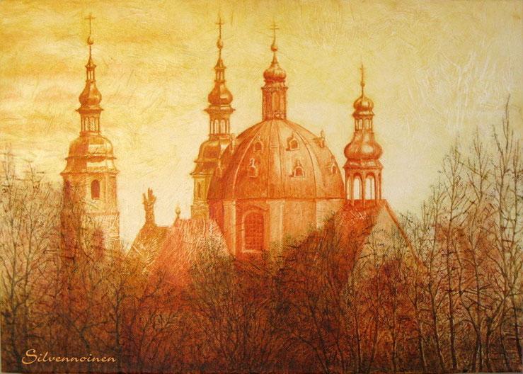 Fuldaer Barock-Dom, Acryl und Ölmalerei auf eigener Struktur