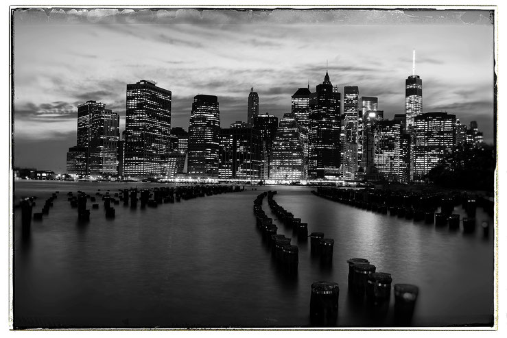 New York, Downtown Manhattan, View from Brooklyn Heights, Juni 2014