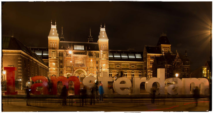 Amsterdam, vor dem Rijksmuseum, Januar 2015